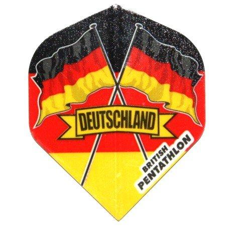 15 Pentathlon Deutschland Dart Flights (5 Sätze)
