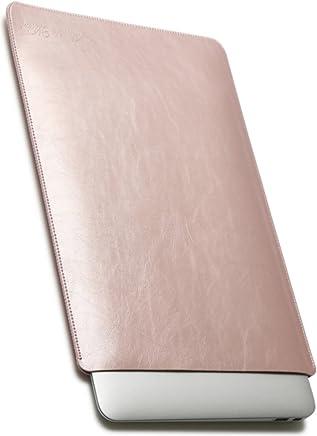 V.M 13.3インチ PCケース レザー 13.3 パソコンケース 13 3 PC ケース ノート パソコン バッグ カバー バック 13インチ マックブックプロ PCバッグ 革 ローズ ピンク Mac Pro case 13inch 桃
