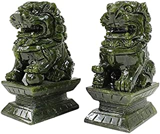 2pcs Chinese Guardian Lion Aquarium Ornaments Mini Garden Micro Landscape