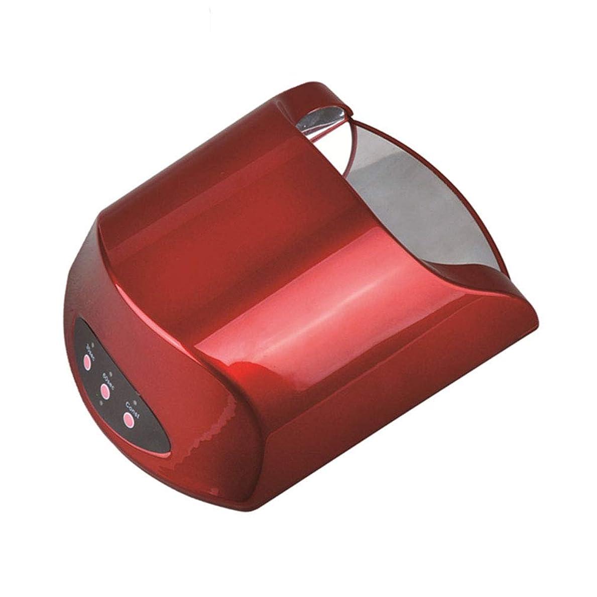 仕方カフェ兵器庫インテリジェントなランプ機能、オープンデザイン、赤外線センサーと30秒60秒タイマー設定のゲルネイルポリッシュシェラックのための36W UV LEDランプネイルドライヤー,Red
