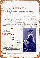 ブリキ看板1933 Kartsokaの女性用衛生用品コレクターウォールアート