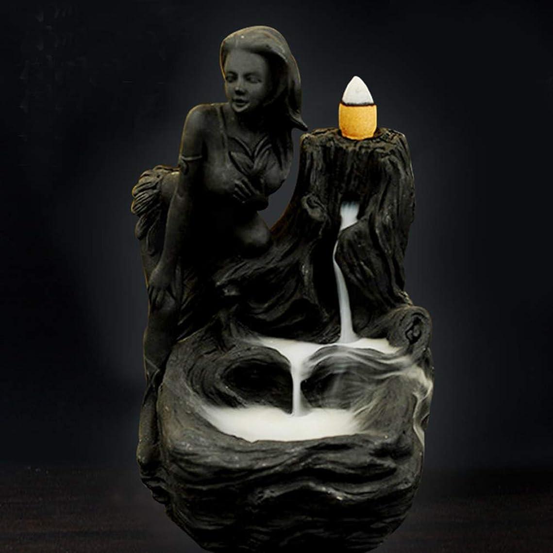 白内障手のひら最小化する女神香炉煙逆流タワー香炉香炉香炉ホルダー香炉ホームデコレーション