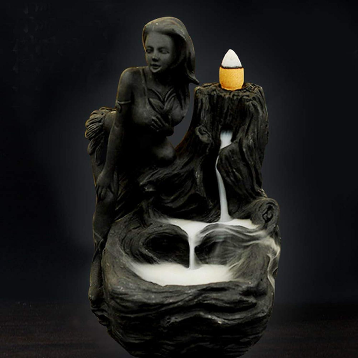 創造フェザー構成する女神香炉煙逆流タワー香炉香炉香炉ホルダー香炉ホームデコレーション