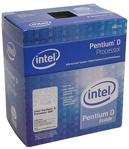 Intel Pentium D 805 Dual Core 2.66GHz Prozessor Sockel 775 FSB533 2X1MB Cache In-A-Box mit Kühler und 3 Jahren Garantie