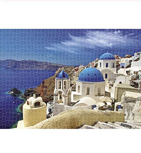 N\A - Kit de bordado de mosaico de pintura con diamantes, para manualidades, regalo completo, bordado con diamantes, castillo blanco italiano, paisaje de la bahía de verano, 30 x 40 cm