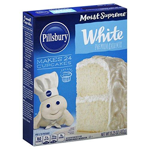 Pillsbury Cake Mix Moist Supreme Classic White, 15.25 oz