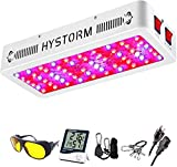 HYSTORM HY 600W LED Grow Light Full Spectrum LED Growing Lights for Indoor Plants Greenhouse Hydroponic Veg and Flower with Timer, Adjustable Rope, 4.6x4' Coverage
