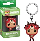 Funko- Keychain Pocket Pop Fortnite Tricera Ops Figura Coleccionable, Multicolor (35716)...