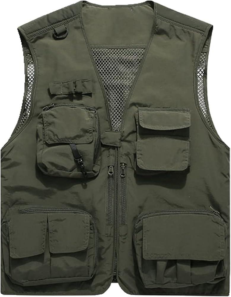 Men Thin Sectionvest Autumn Casual Outdoor Quick Windproof Work Vest Men