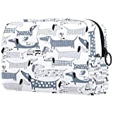 Dachshund Dog Small Makeup Bag Pouch for Purse Travel Cosmetic Bag Portable Toiletry Bag for Women Girls Gifts