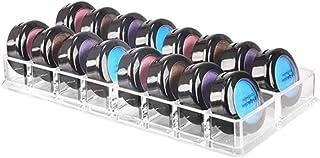 アイシャドホルダー 化粧品 コスメ アクリル製 16仕切り ディスプレイスタンド 収納ケース アクリルスタンド アイシャドー イヤリング 小物 収納ボックス 透明