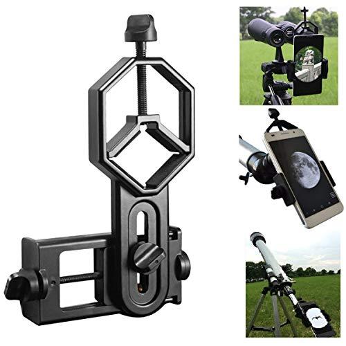Shackcom Universal Teleskop Adapter Halterung für Smartphone, Kompatibel mit Fernglas Binokulares Monokular Spektiv und Mikroskop Smartphone Halterung Adapter für iPhone Sony Samsung LG HTC