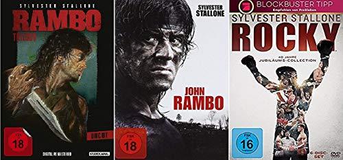 Rambo 1-4 + Rocky 1-6 [DVD Set] Best of Sylvester Stallone Paket
