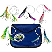 Jaw Lures Mahi Mahi Slayer Offshore Fishing Lures Designed To Hook 2 Fish Simultaneously | 5 Pack of Lures With Unique Color Combos Specific To Targeting Mahi Mahi, Larger Blackfin, and Sailfin Too