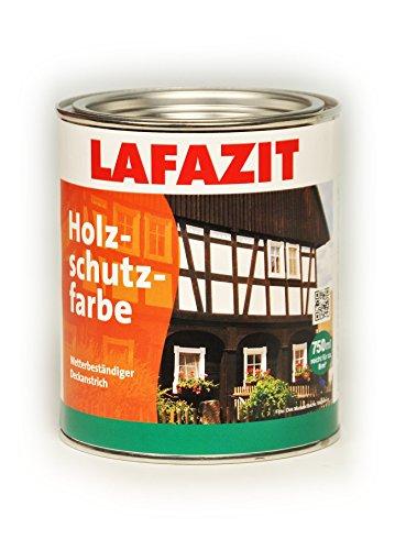 Holzschutzfarbe Lafazit Weiß, Schwarz, Grün, Rotbraun, Dunkelbraun, Beige, Schwedenrot Holzschutzmittel Holzfarbe Außenfarbe (2,5 L, Dunkelbraun)