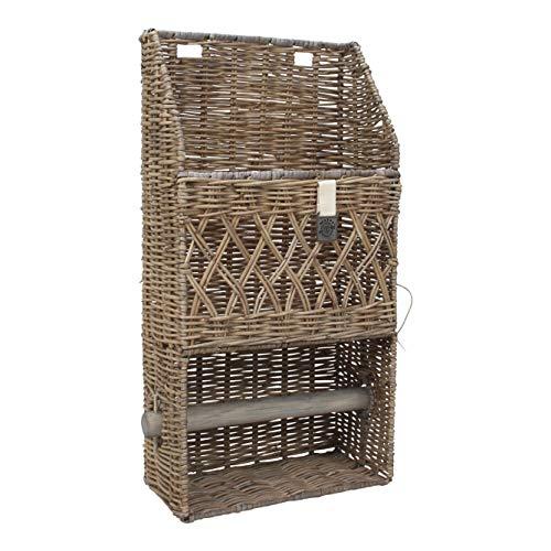 Maine Furniture Co. M500330 Kubu ratán, Multifuncional, decoración de Cocina y Organizador rústico, increíblemente Resistente y Elegante, 25 x 13 x 50 cm, 25x13x50 cm