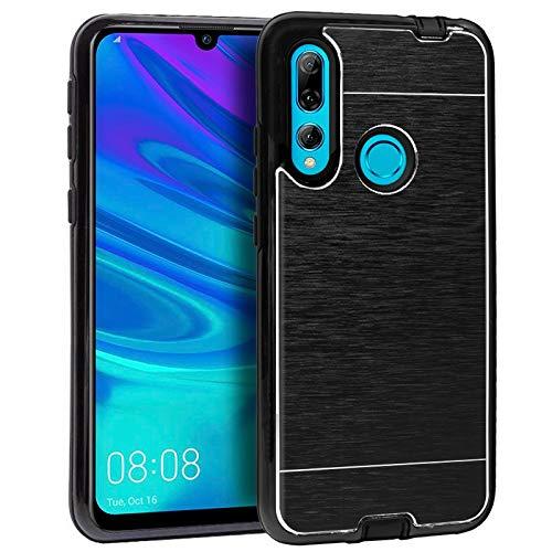 iGlobalmarket Huawei P Smart Plus (2019) / P Smart (2019) / Honor 10 Lite / 20 Lite, Funda Trasera, Modelo Aluminio Negro