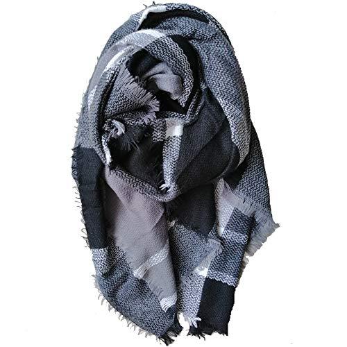 Women Oversized Scarf Tartan Blanket Scarf Winter Warm Plaid Pashmina
