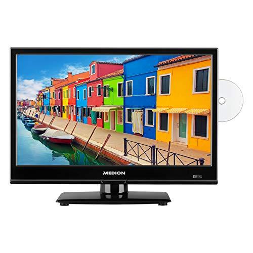 MEDION E11941 47 cm (18,5 Zoll) Fernseher (Triple Tuner, DVB-T2, integrierter DVD-Player, CI+, Mediaplayer, 12V KFZ Car-Adapter)
