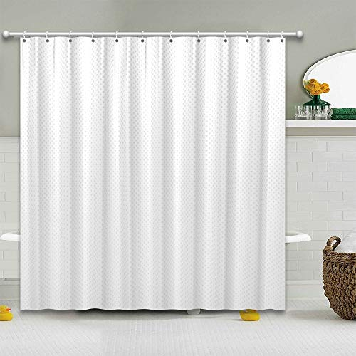 Pantula White Shower Curtain Set with 12 Hooks, Waterproof Mildew Proof Durable 72-by-72 Square Shower Curtain, Suitable for Modern Home Bathroom Bathtub Decoration Stall ( White, 72×72 inch)