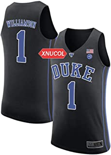 bb016c2f238d Xnucol Duke Blue Devils NO 1 Zion Williamson Stitched Mens College Basketball  Jersey
