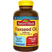 2 x 180-Count Nature Made Flaxseed Oil 1000 mg Softgels