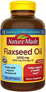360-Count Nature Made Flaxseed Oil 1000 mg Softgels