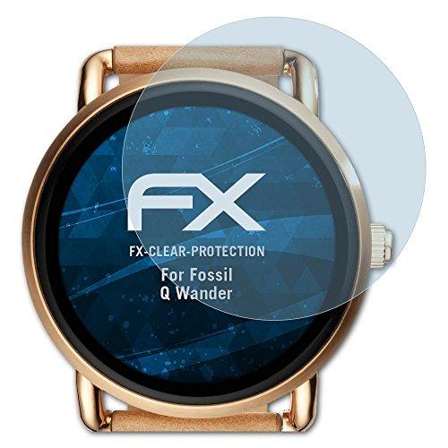 atFoliX Schutzfolie kompatibel mit Fossil Q Wander Folie, ultraklare FX Displayschutzfolie (3X)