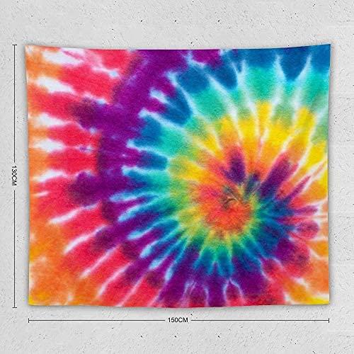 N\A Tapices en Espiral Tie Dye Tapices para Colgar en la Pared Decoración para el hogar para Sala de Estar Dormitorio Dormitorio Habitación Playa Picnic Mat
