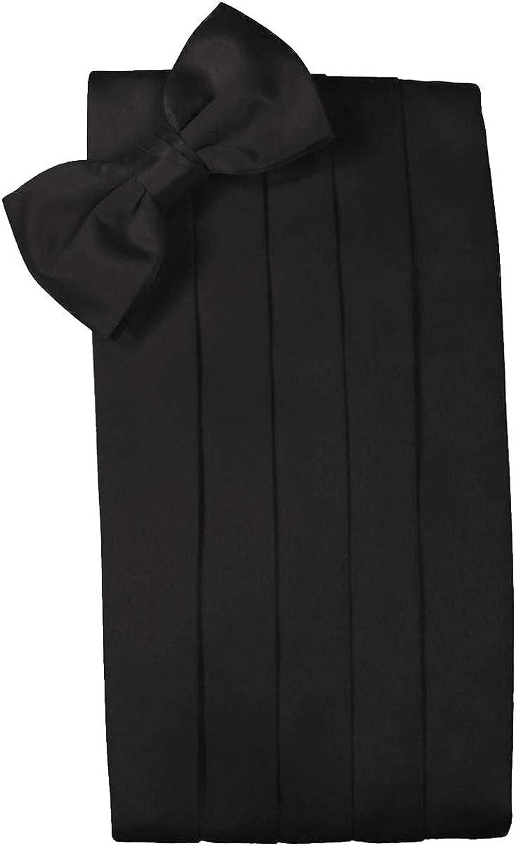 Black Big and Tall Ranking Max 60% OFF TOP2 Silk Bow Tie Set Cummerbund