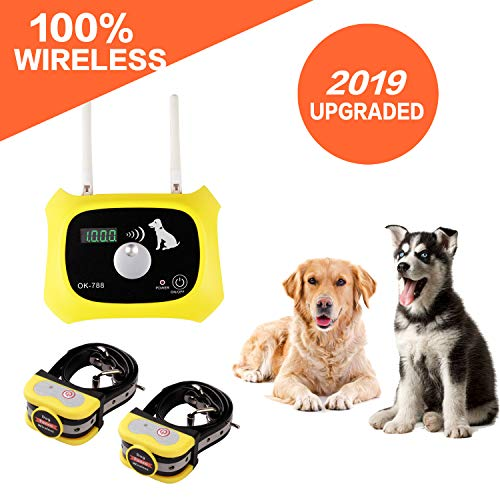 S JUSTSTART Wireless Dog Fence Electric Pet Containment System, Safe Effective...