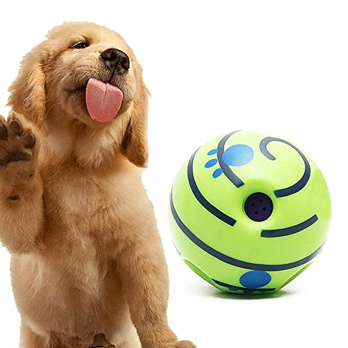 PetHot Dog Play Training Wobble Wag Giggle Ball Pet Toys With Funny Sound No Harm Interactive