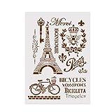 Ogquaton Plantilla de DIY Torre Eiffel Layering Stencils par