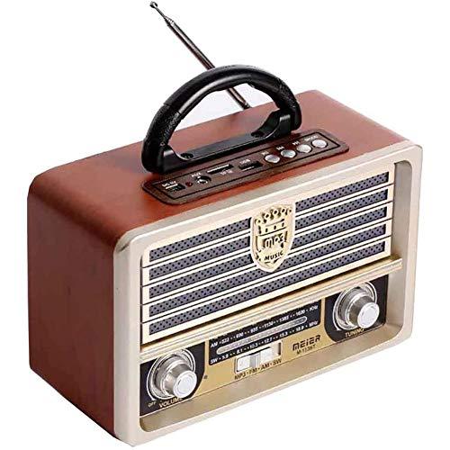 Fikujap Radio De Madera Retro, Am SW Radio FM, Altavoz Inalámbrico Bluetooth...