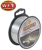 WFT Zielfisch Karpfen 300m 0,35mm 10,4kg grau - Angelschnur zum Angeln auf Karpfen, Monofil Schnur...