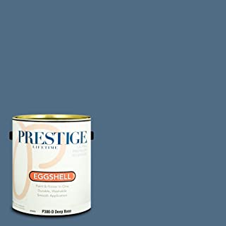 Prestige Paints P300-D-SW6523 Interior Paint and Primer in One, 1-Gallon, Eggshell, Comparable Match of Sherwin Williams Denim, 1 Gallon, SW62-Denim