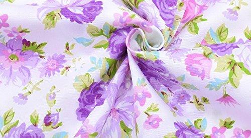 Ideal tela flores malvas al corte por metros. 1 unidad es 0.50 m. x 1.60m 2 unidades 1 m x 1.60 m. cortinas, cocina, cojines, canastillas, 100% algodon de CHIPYHOME