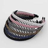 JOBAND Multicolor Stylish Teeth Comb Hair Hoop Hairband Headband Soft Comfy Non-slip Hair Accessories for Women/Girl(6 color)