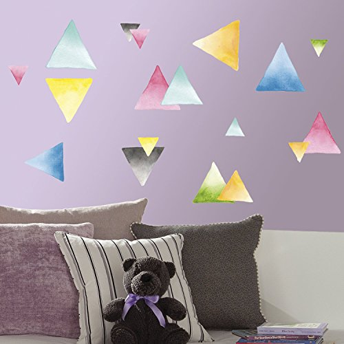 Stickers Repositionnables Triangles Aquarelle