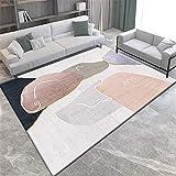 alfombras Que se Pueden Fregar Alfombra de Estar Alfombra Rectangular Gris Rosa Resistente al Desgaste y a Prueba de Humedad dormitorios Juveniles Infantiles Home Decoracion 80X160CM 2ft 7.5