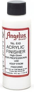Angelus Brand Acrylic Finisher, High Gloss No. 610, 4 Ounce Bottle (610-04-000)