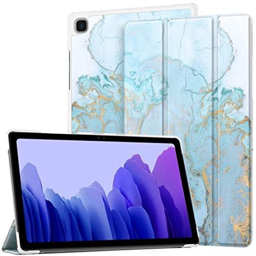 EasyAcc Funda Compatible con Samsung Galaxy Tab A7 10.4 2020 SM-T500 SM-T505 T507, Ultra Slim PU Protectora Carcasa con Función de Soporte, Mármol Blue