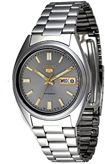 Seiko Men's Grey Dial Stainless Steel Band Watch - SNXS75K1