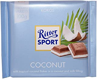 Ritter Sport Chocolate, Coconut, 3.5 Ounce (Pack of 12) by Ritter Sport