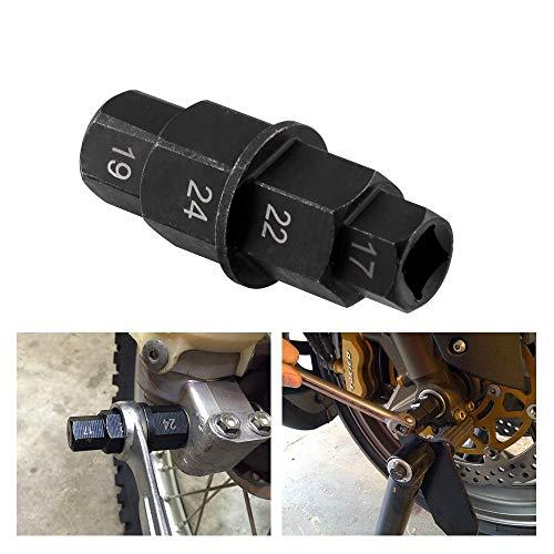 PUXINGPING- Llave de neumático de la Motocicleta Caliente husillo de Herramienta 17 19 22 24 Manguito Desmontable mm husillo