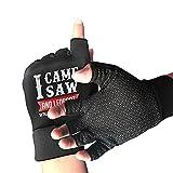 I Came I Saw I Forgot What I Was Doing Guantes de jardinería de Medio Dedo|Guantes de Escalada de Boxeo para Deportes al Aire Libre