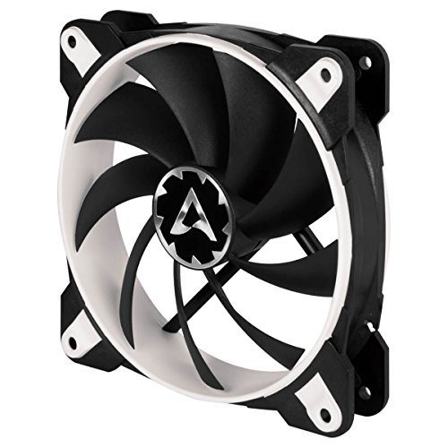 ARCTIC BioniX F120 - 120 mm Gaming Gehäuse-Lüfter mit PWM PST, Case Fan mit PST-Anschluss (PWM Sharing Technology), Reguliert RPM synchron, 200-1800 U/min. - Weiß