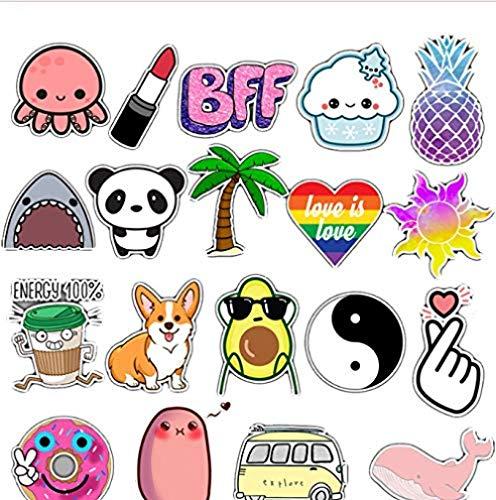 Anime Icon Animal Cute Decals Stickers, cadeaus voor kinderen aan laptop, koffer, gitaar, koelkast, fiets, auto, 50 stuks