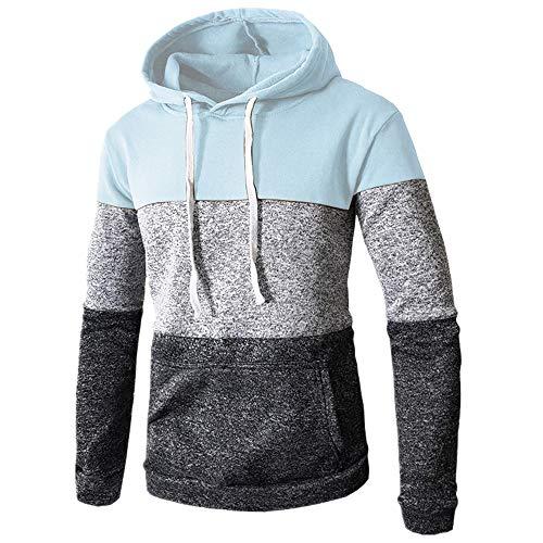N\P Los hombres de coincidencia de color suéter con capucha suéter slim fit deportes suéter de los hombres abrigo