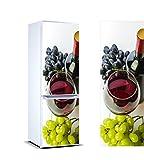 Vinilo para Frigorífico vinoteca | Varias Medidas 185x70cm | Adhesivo Resistente y de Fácil Aplicación | Pegatina Adhesiva Decorativa de Diseño Elegante